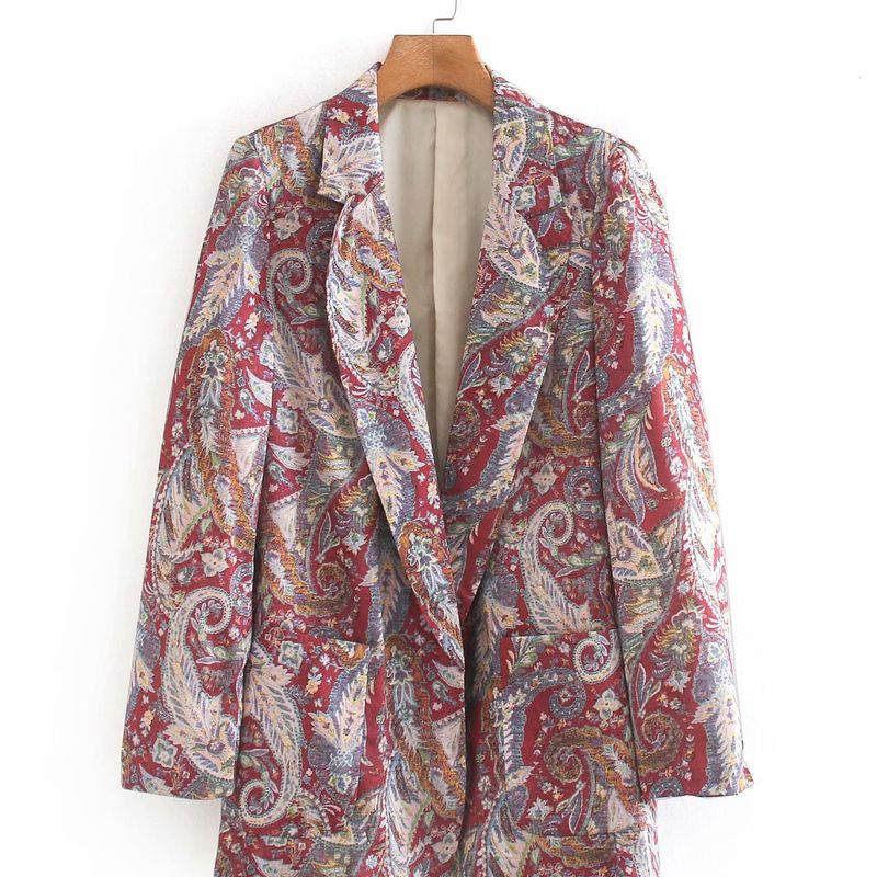 New fashion casual printed suit jacket for women trend wholesale nihaojewelry NHAM239181