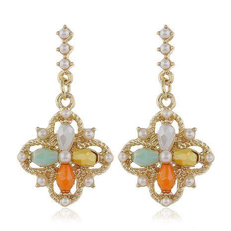 925 Argent Post Haute Qualité Mode Métal Cristal Quatre Feuilles Fleur Boucles D'oreilles en gros nihaojewelry NHSC231827's discount tags