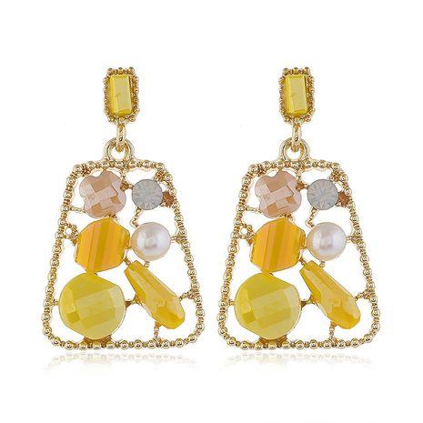 925 pines de plata de alta calidad de cristal de metal pendientes trapezoidales geométricos al por mayor nihaojewelry NHSC231828's discount tags