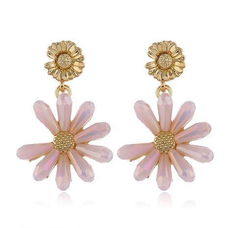 925 Silver Post de alta calidad de moda Metal Crystal Daisy Stud Earrings al por mayor nihaojewelry NHSC231824's discount tags