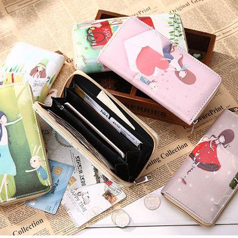 Coréen PU dessin animé long dames portefeuille nouveau mini téléphone portable sac en gros nihaojewelry NHBN231156's discount tags