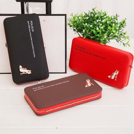 Long clutch bag ladies wallet Korean purse mobile phone bag wholesale nihaojewelry NHBN231159's discount tags