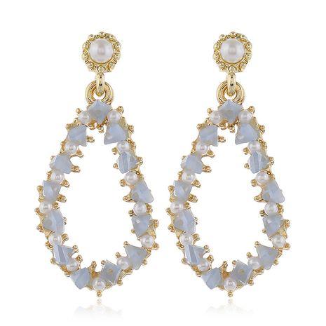 925 pines de plata de alta calidad de metal de cristal geométricos pendientes de forma irregular al por mayor nihaojewelry NHSC231825's discount tags