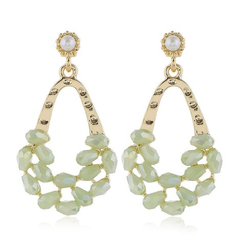 925 silver pin high quality fashion metal crystal water drop simple earrings  wholesale nihaojewelry NHSC231822's discount tags