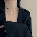 Korean new necklace full body stainless steel colorfast snake bone chain round bean double clavicle chain choker wholesale nihaojewelry NHYQ231181
