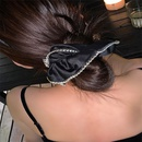 Korean style satin mulberry silk crystal inlaid large intestine hair scrunchies retro hair accessory wholesale nihaojewelry NHYQ231187