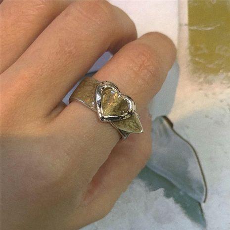 Corée mode ceinture amour forme anneau gouttes paillettes fille anneau en gros nihaojewelry NHYQ231188's discount tags