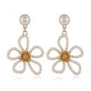 925 Silver Post High Quality Fashion Metal Pearl Simple Bauhinia Stud Earrings wholesale nihaojewelry NHSC231823