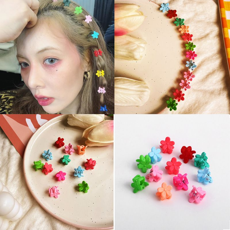 hairpin candy color small flower hairpin scratch clip headdress 12 random colors wholesale nihaojewelry NHPJ231205
