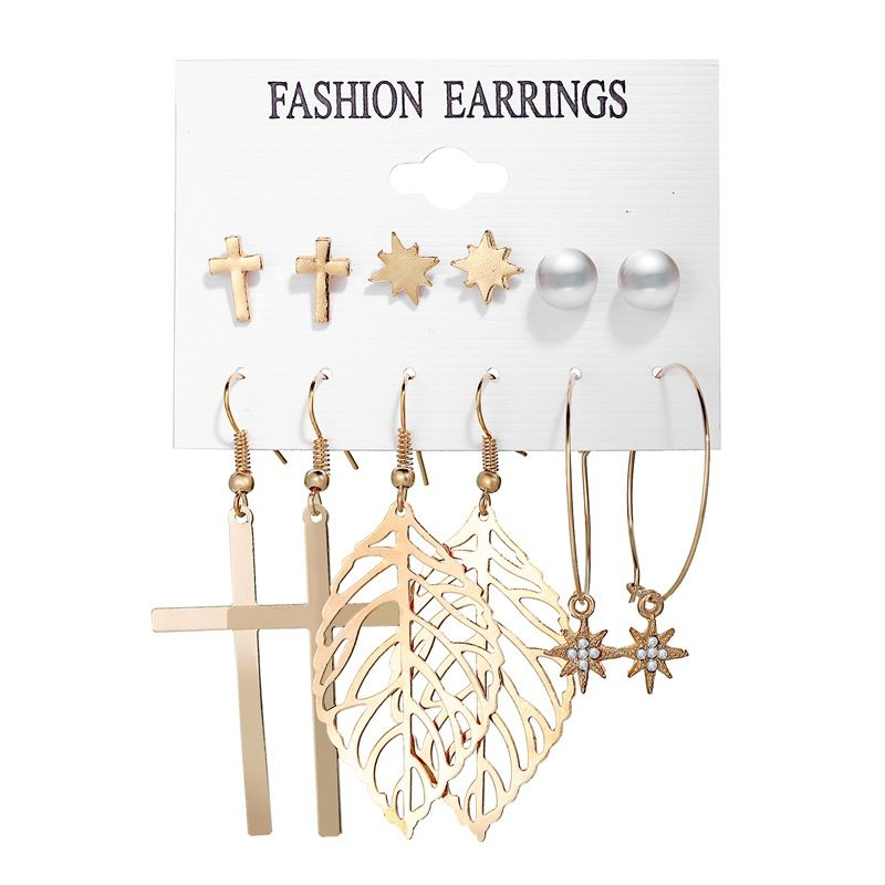 hot sale earrings set  pairing creative simple love circle earrings wholesale nihaojewelry NHPJ231210