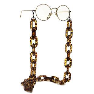 Resin acrylic plastic leopard glasses chain simple retro fashion glasses chain anti-skid anti-lost wholesale nihaojewelry NHBC231221's discount tags