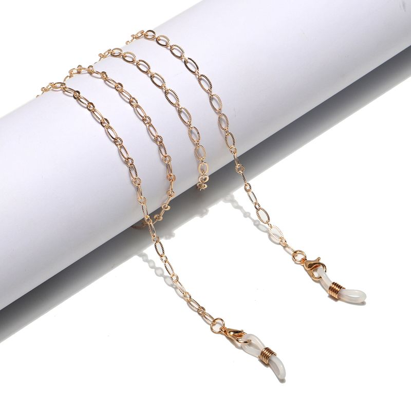 hot section fashion simple golden hollow copper glasses chain glasses rope wholesale nihaojewelry NHBC231227
