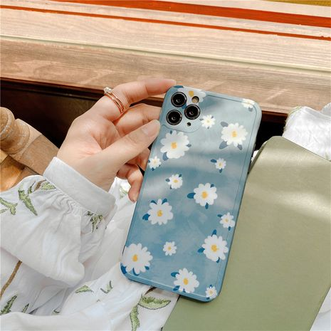 korean style Flower phonecases suitable for iPhone11Promax/XR/SE2 couple soft shell P40pro anti-fall wholesale nihaojewelry NHFI231230's discount tags