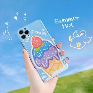 La coque de téléphone portable de crème glacée aux fraises d'été convient à Apple XS / SE2 / XSMAX doux P40pro en gros nihaojewelry NHFI231233's discount tags