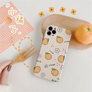 cas de téléphone portable orange pour iPhone11ProMAX X 8plus HuaWei P40pro étui de protection en gros nihaojewelry NHFI231237's discount tags
