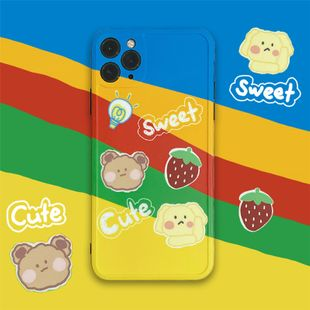 Rainbow Bear phone case for 11Pro Max Apple X XS XR 7p HuaWei P40pro silicone wholesale nihaojewelry NHFI231238's discount tags