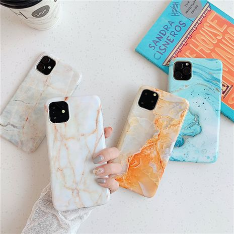 simple marble iphone 11Pro Max  7P HuaWei p40 pro all-inclusive anti-fall phone cases wholesale nihaojewelry NHFI231239's discount tags