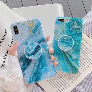 Vert menthe peinture à l'huile cas de téléphone iPhone xs max 7 plus HuaWei support coque de protection en gros nihaojewelry NHFI231240's discount tags