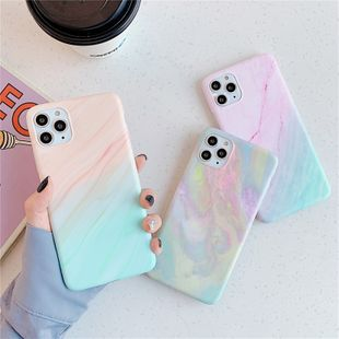 simple marble phonecases suitable for iphone 11Pro/Max/7P bracket sleeve P40pro wholesale nihaojewelry NHFI231241's discount tags
