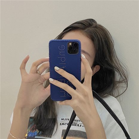sapphire blue phonecases suitable for 11Pro/Max /X/SE2/XR /P40Pro silicone wholesale nihaojewelry NHFI231245's discount tags