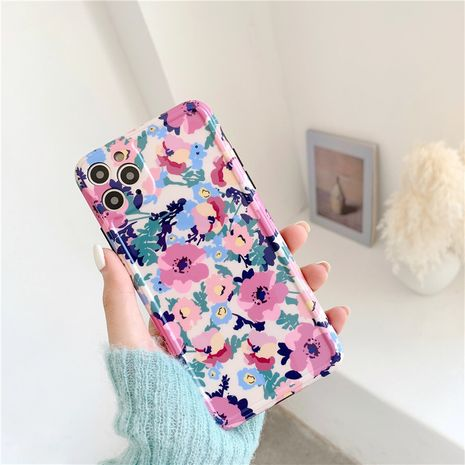 Petit boîtier de téléphone mobile floral de style idyllique adapté à 11Pro / max / XS / se2 / iPhone7plus / P40pro gros nihaojewelry NHFI231248's discount tags
