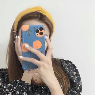 Korean style retro blue orange phone case for HuaWei iPone 11Pro Max /XS/XR/iPhone7plus wholesale nihaojewelry NHFI231250's discount tags