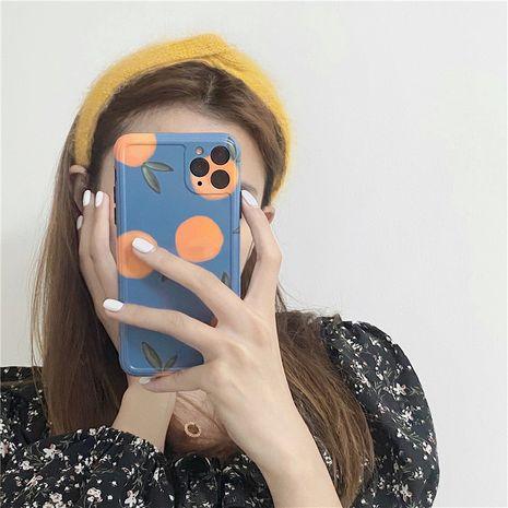 Korean style retro blue orange phone case for HuaWei iPone 11Pro Max /XS/XR/iPhone7plus wholesale nihaojewelry NHFI231250's discount tags