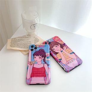 Étui de téléphone portable mignon fille anime pour iphone11pro max / se2 / 8plus housse de protection en gros nihaojewelry NHFI231252's discount tags