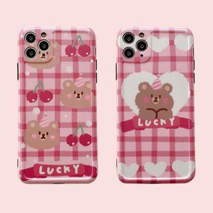 Étui de téléphone portable mignon Cherry Bear pour iPhone7 / 8plus / XR / 11pro housse de protection anti-chute en gros nihaojewelry NHFI231256's discount tags