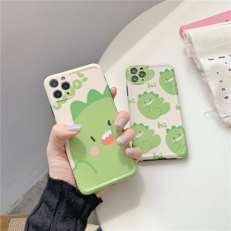 Cartoon little dinosaur phonecases suitable for iPhone11Pro / X /7/8plus/P40pro/mate30/se wholesale nihaojewelry NHFI231258's discount tags