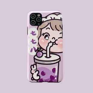 Cartoon succulent grapes phonecases suitable for 11Pro/xsmax /XS/XR /8/7p/SE2 wholesale nihaojewelry NHFI231263's discount tags
