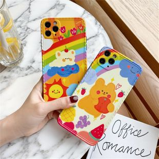Cute Bear phonecases para iphone 11 / Promax / 8plus / SE2 soft shell Huawei P40Pro / X venta al por mayor nihaojewelry NHFI231264's discount tags
