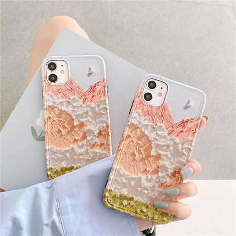 Pintura al óleo Snow Mountain adecuada para iphone 11 / Promax / iphone8plus / SE2 nihaojewelry al por mayor NHFI231270's discount tags