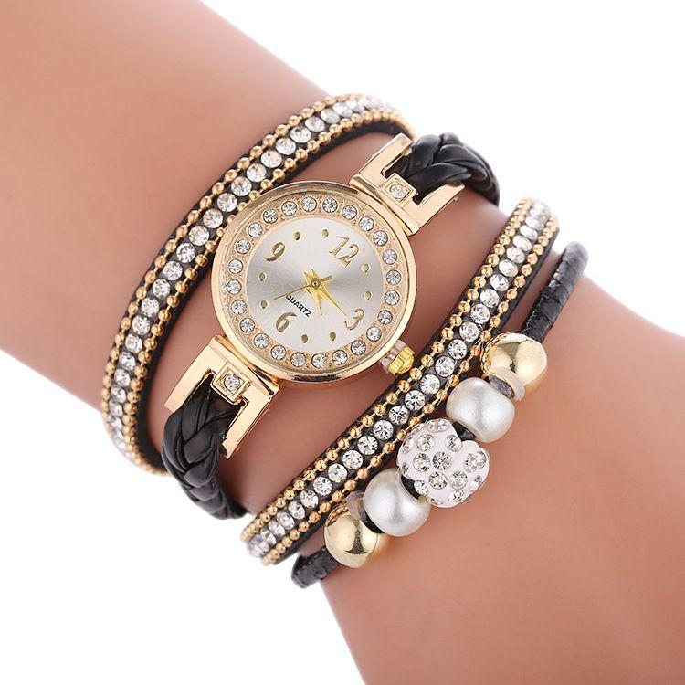 Diamond ring bracelet watch trend multi-layer water diamond fashion watch wholesale nihaojewelry NHSS231305