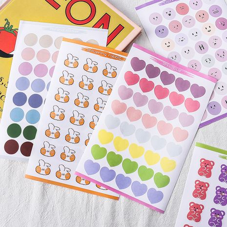 Cute color emoticons dot stickers sealing stickers photo stickers cartoon diy stickers small stickers wholesale nihaojewelry NHZE231352's discount tags