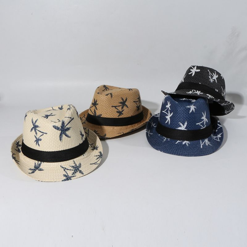 Children's Sun Hat Jazz Straw Hat Summer Baby Top Hat Summer Shade wholesale nihaojewelry NHTQ231388
