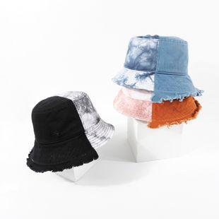 Tie-dye pêcheur chapeau marque écran solaire chapeau été coréen en plein air bassin chapeau en gros nihaojewelry NHTQ231396's discount tags