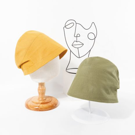 solid color fisherman hat autumn new sunscreen hat new basin hat wholesale nihaojewelry NHTQ231397's discount tags