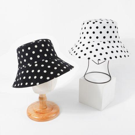 Polka dot fisherman hat Korean bucket hat basin hat summer fashion autumn style sun hat wholesale nihaojewelry NHTQ231399's discount tags