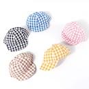 Childrens hat summer sunscreen plaid cap baby thin section softbrimmed hat Korean baseball cap wholesale nihaojewelry NHTQ231406