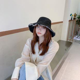 Pêcheur chapeau cow-girl bord brut chapeau de soleil couleur unie grand écran solaire chapeau coréen chapeau chaud rue soleil en gros nihaojewelry NHTQ231408's discount tags
