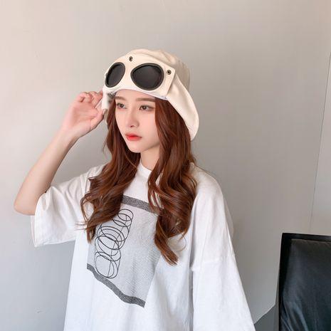 Flying glasses fisherman hat hot summer sun hat Korean ladies sunscreen hat wholesale nihaojewelry NHTQ231409's discount tags
