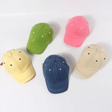 Crème solaire pour enfants chapeau de bébé couleur bonbon casquette de baseball été mince casquette de couleur unie gros nihaojewelry NHTQ231413's discount tags
