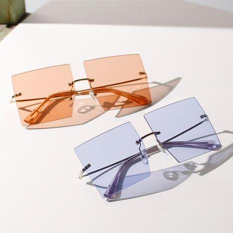 big frame borderless trend Korean sunglasses color summer new sunglasses wholesale nihaojewelry NHXU231415's discount tags