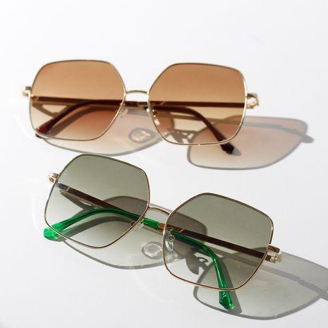 semi-metallic square sunglasses new color frame Korean retro sunglasses wholesale nihaojewelry NHXU231416's discount tags