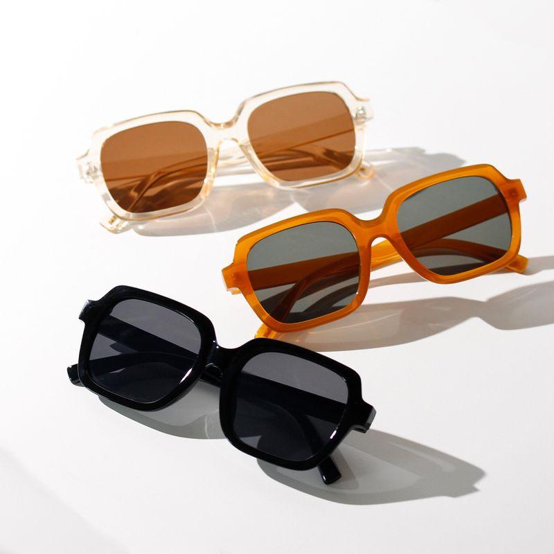 Korean trendy fashion frame square mens glasses new small square color sunglasses women wholesale nihaojewelry NHXU231417