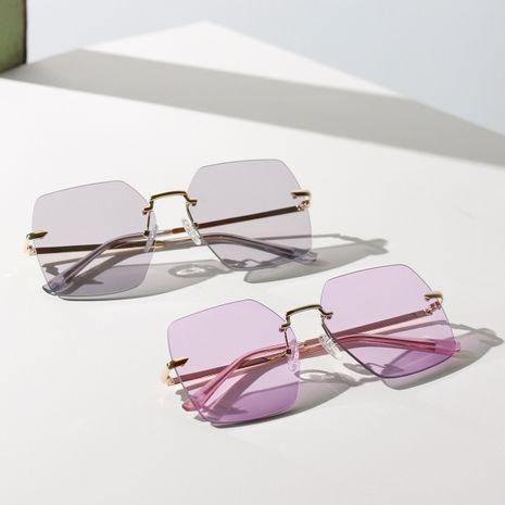 borderless large frame retro ladies sunglasses Korean popular color marine fashion sunglasses men wholesale nihaojewelry NHXU231419's discount tags