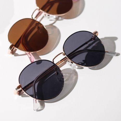 fashion metal round retro sunglasses black new sunglasses men wholesale nihaojewelry NHXU231421's discount tags
