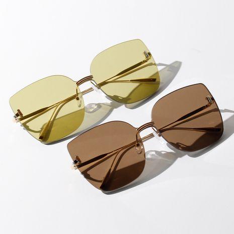 Korean borderless square boutique big frame summer color sunglasses wholesale nihaojewelry NHXU231423's discount tags