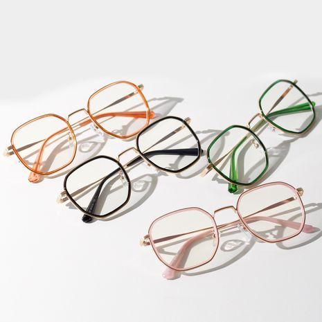 Korean summer candy color flat square simple  frame glasses wholesale nihaojewelry NHXU231424's discount tags